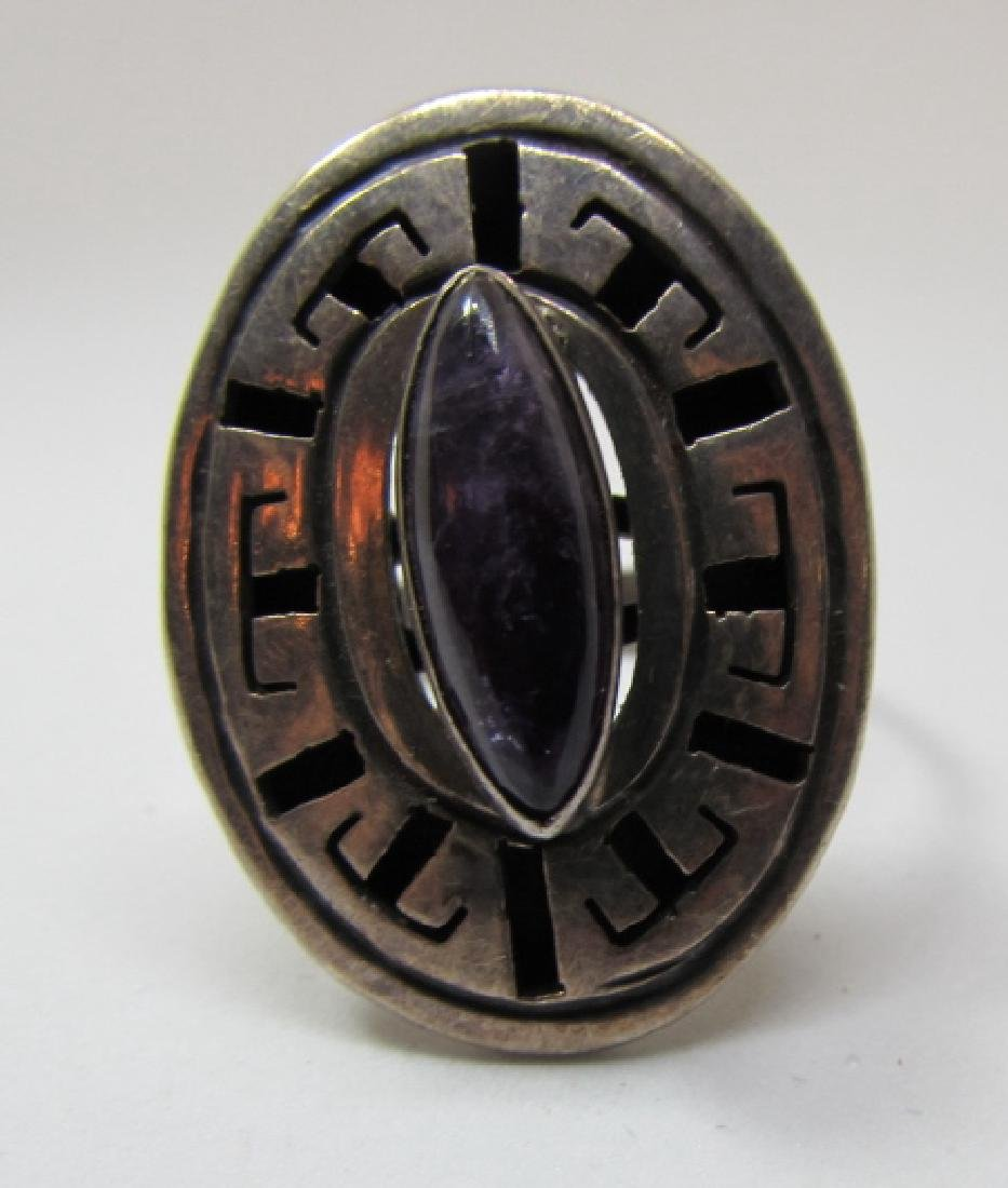 AMETHYST RING TAXCO STERLING SILVER MEXICO ANY SIZ