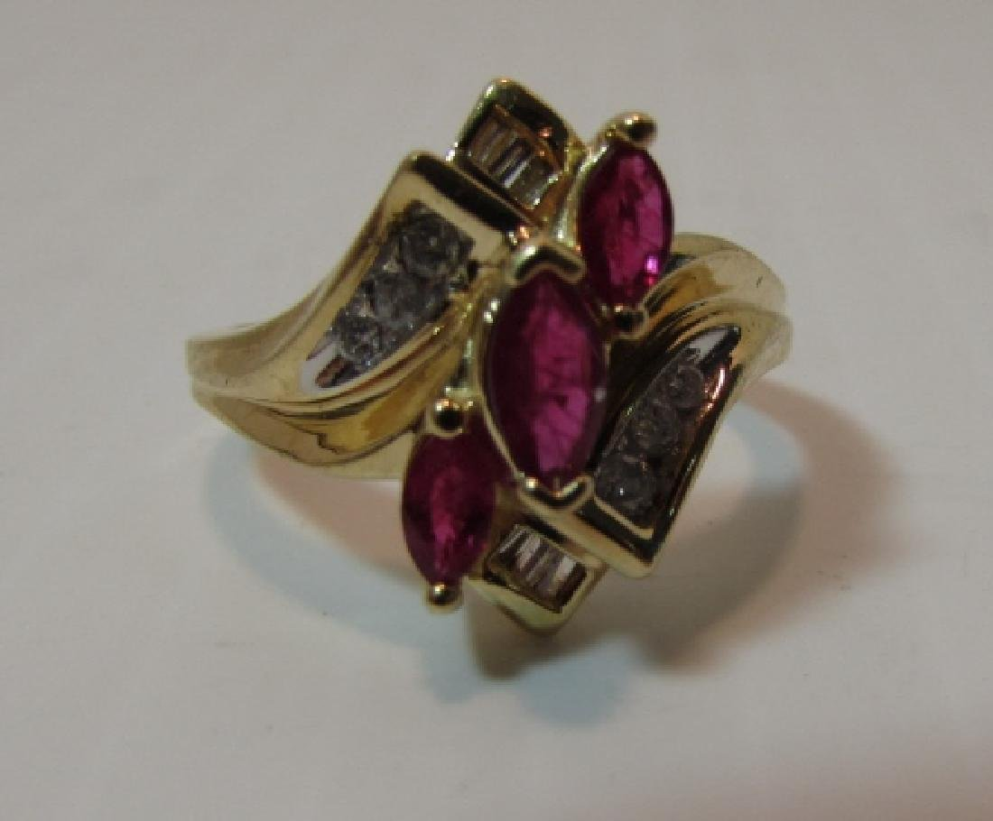 .75CT RUBY DIAMOND 14K GOLD RING SIZE 7 - 2