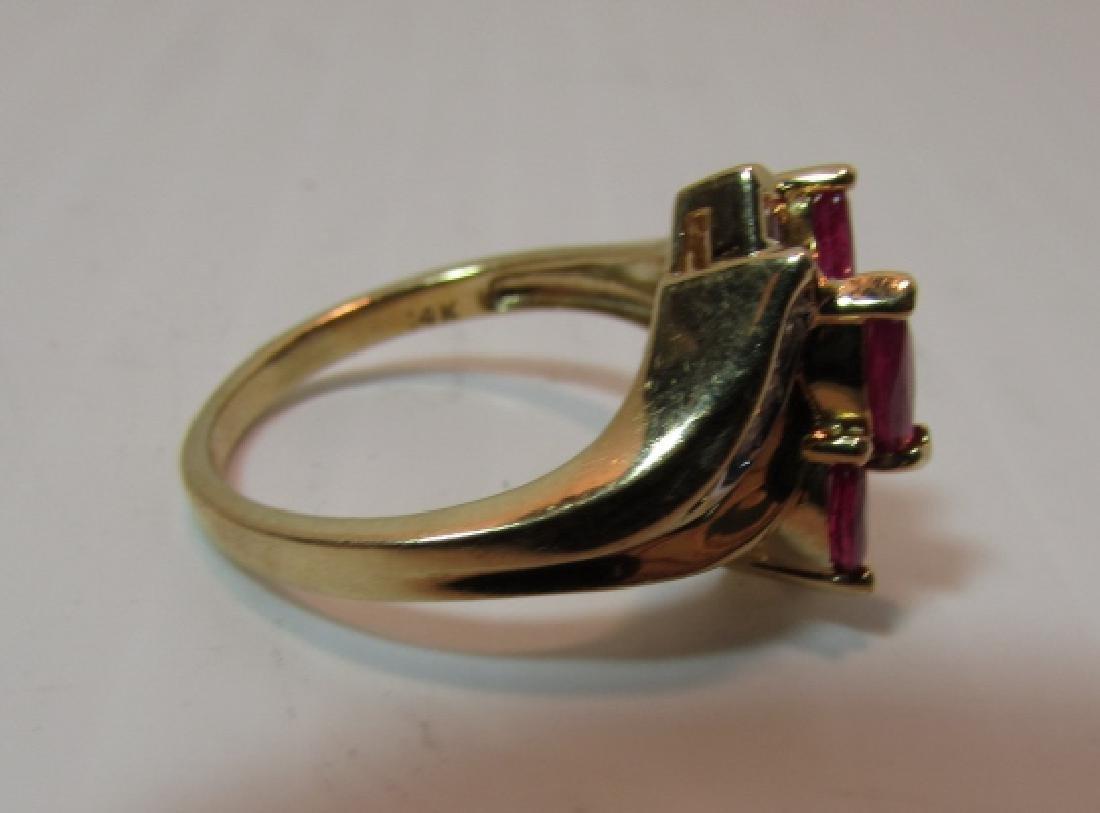.75CT RUBY DIAMOND 14K GOLD RING SIZE 7 - 4