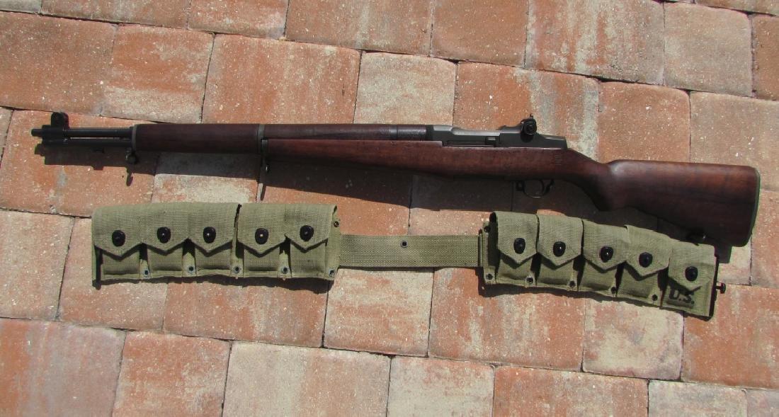 US WWII M1 GARAND 30 CAL RIFLE H&R AMMO CLIPS BELT - 2