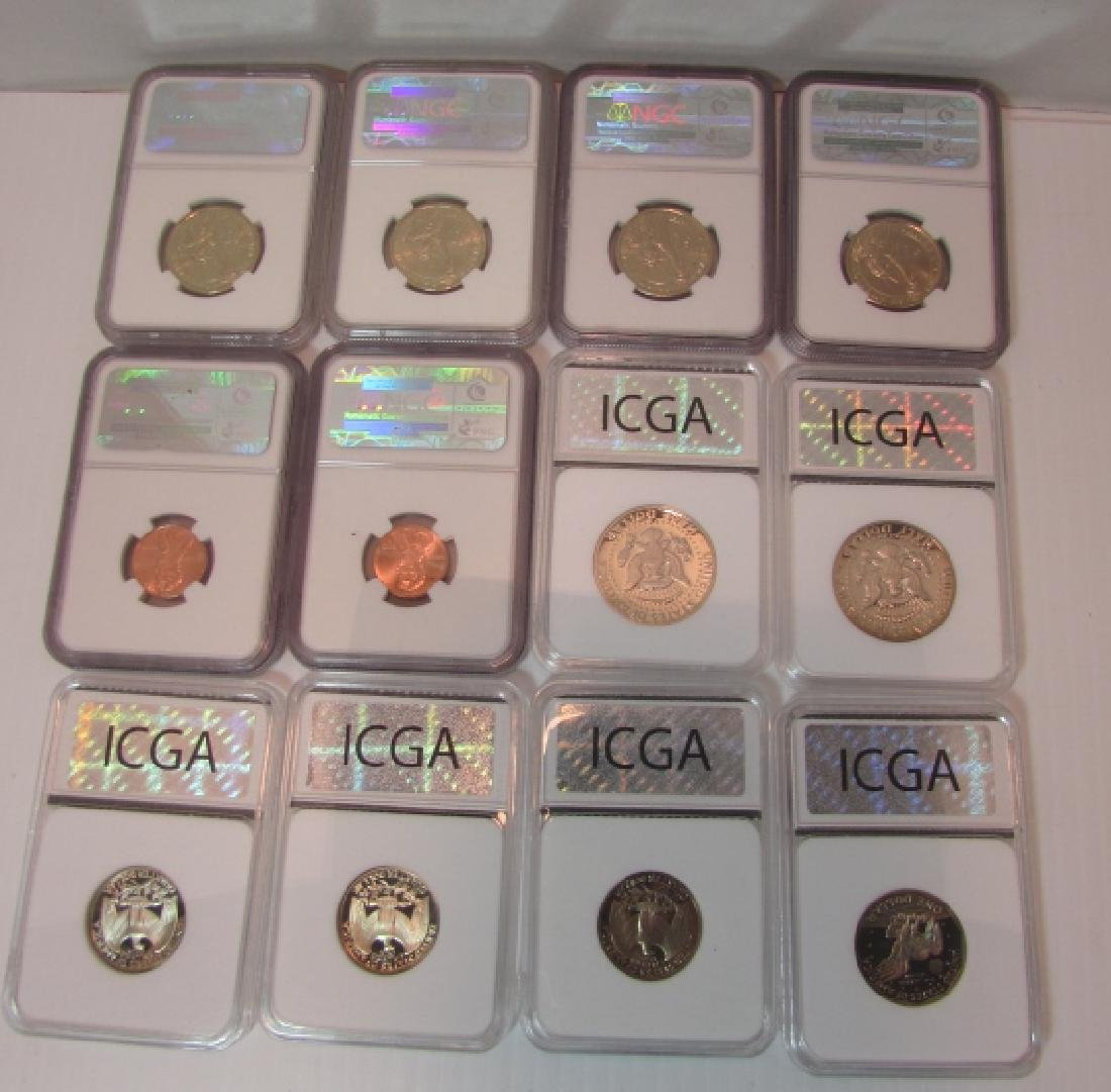 12 CERTIFIED US COINS MS 69 70 - 2
