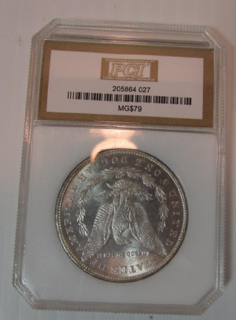 1879 US  MORGAN SILVER DOLLAR MS 63 PCI COIN - 2