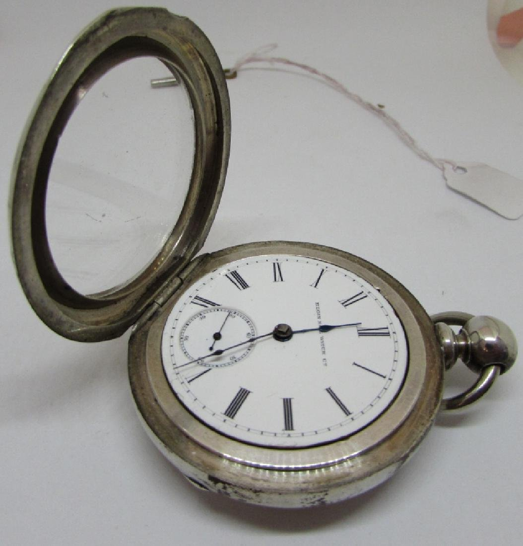 ELGIN KEY WIND POCKET WATCH COIN SILVER ILLINOIS - 4