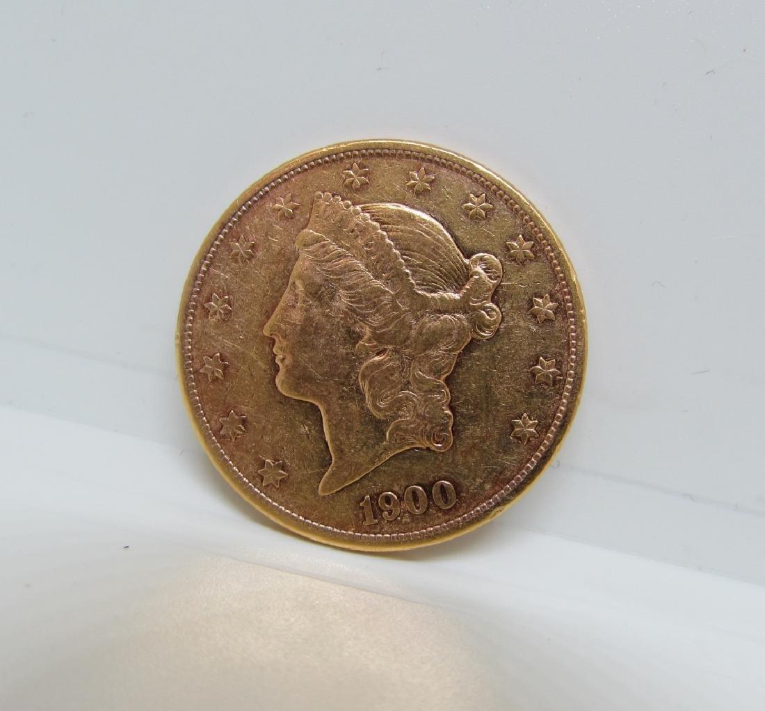 1900 S MINT TWENTY DOLLAR GOLD DOUBLE EAGLE COIN