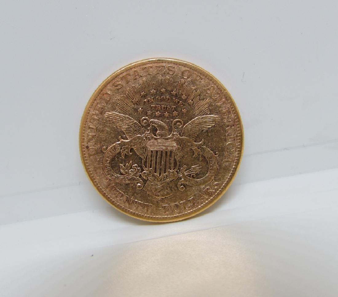 1900 S MINT TWENTY DOLLAR GOLD DOUBLE EAGLE COIN - 2