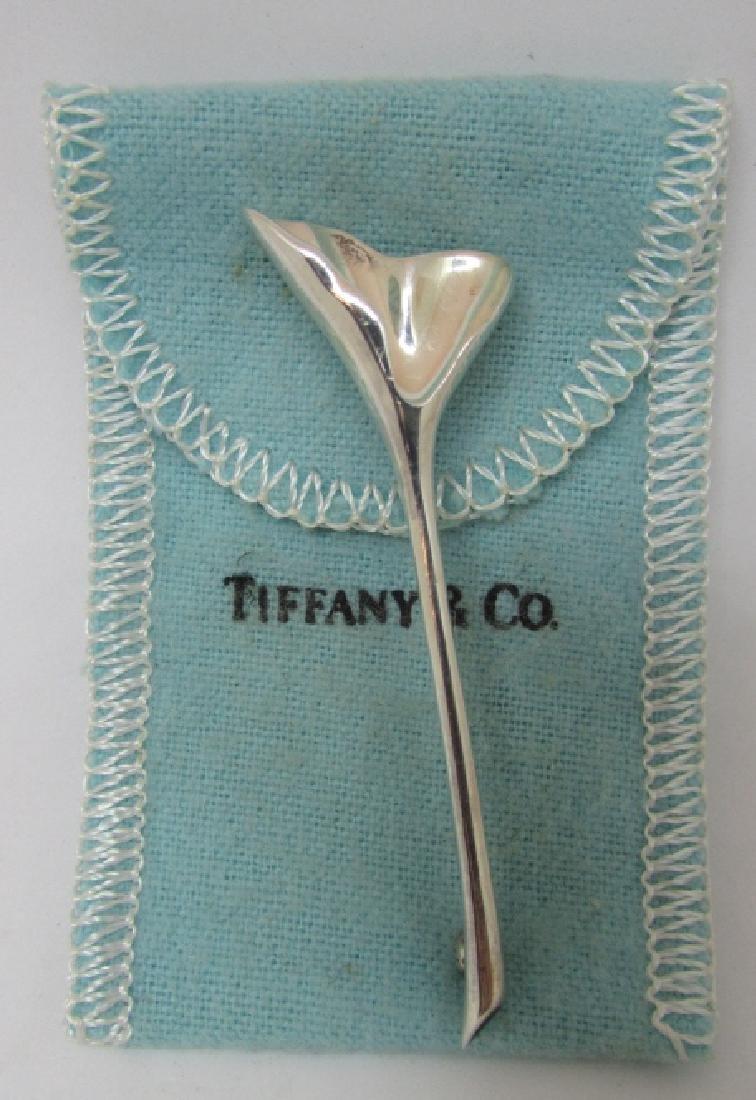TIFFANY CO GINKGO STERLING SILVER BROOCH CUMMINGS