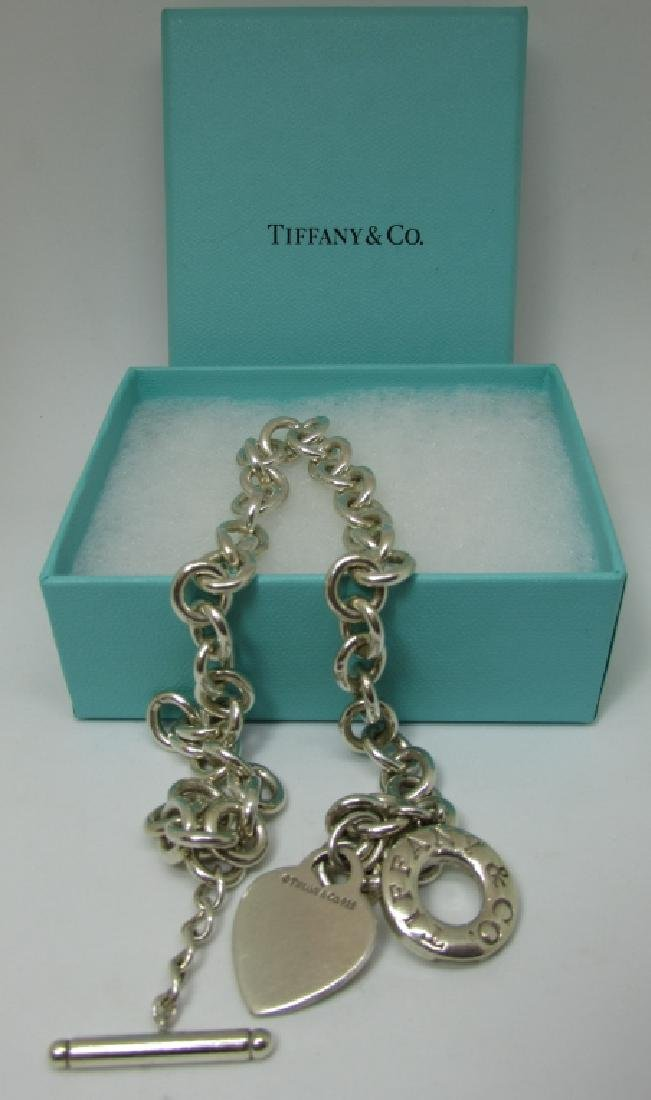 TIFFANY & CO STERLING SILVER CHAIN NECKLACE TOGGLE