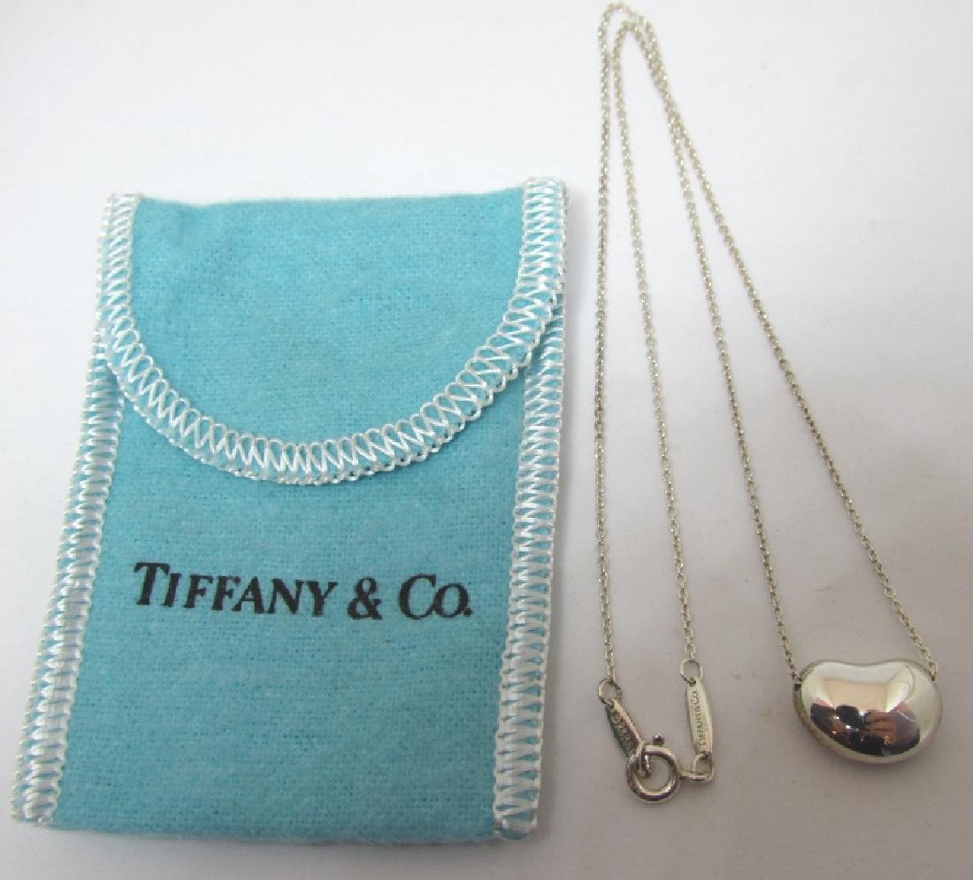 TIFFANY & CO STERLING SILVER BEAN NECKLACE NEW