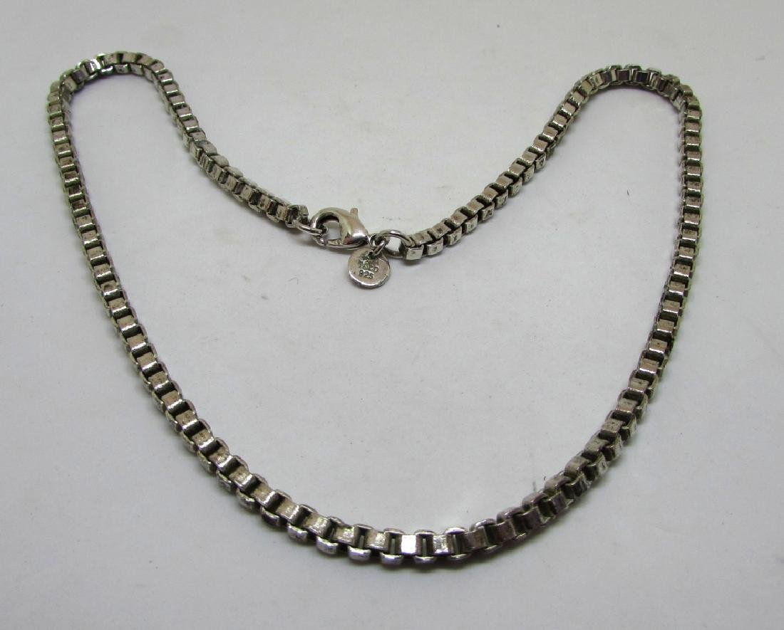 TIFFANY CO STERLING SILVER LARGE VENETIAN NECKLACE - 3