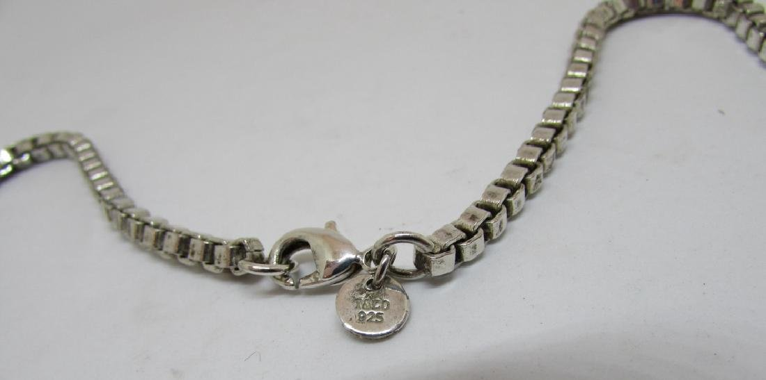 TIFFANY CO STERLING SILVER LARGE VENETIAN NECKLACE - 4