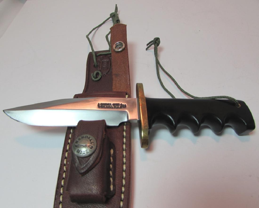 RANDALL 970 KNIFE MINT w LEATHER SHEATH STONE - 2