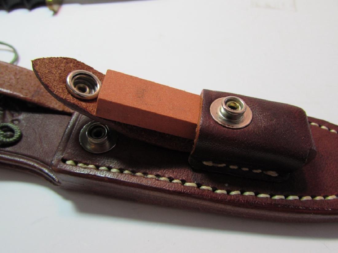 RANDALL 970 KNIFE MINT w LEATHER SHEATH STONE - 5