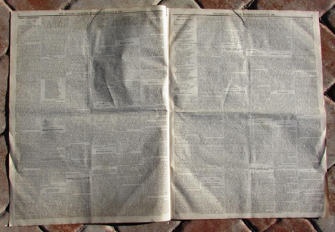 CIVIL WAR ERA CHRISTIAN WESTERN ADV NEWSPAPER 1862 - 2