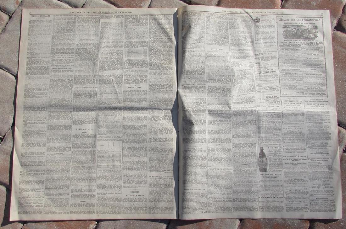 CIVIL WAR ERA CHRISTIAN WESTERN ADV NEWSPAPER 1862 - 4