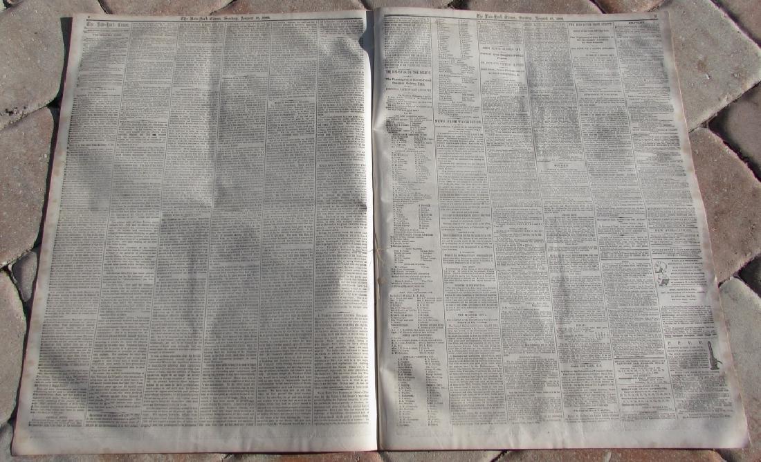 CIVIL WAR ERA NEW YORK TIMES NEWSPAPER 1862 XI - 2