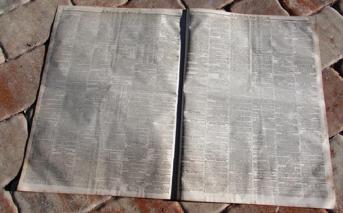 CIVIL WAR ERA NEW YORK TIMES NEWSPAPER 1862 XI - 3