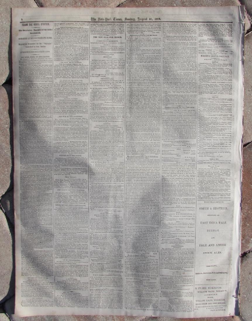 CIVIL WAR ERA NEW YORK TIMES NEWSPAPER 1862 XI - 4