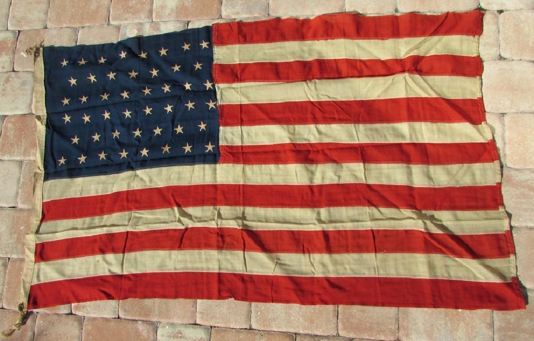 ANTIQUE US STANDARD 46 STAR FLAG SEWN COTTON