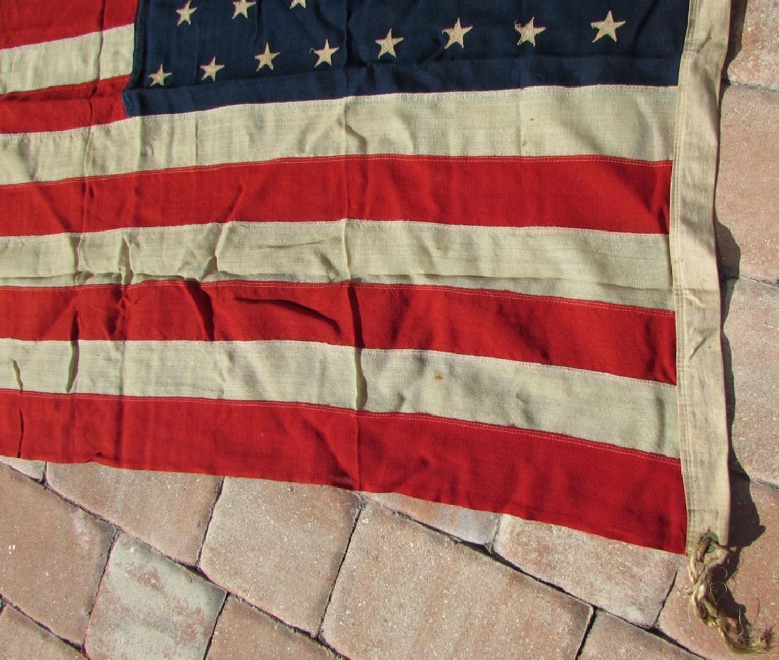 ANTIQUE US STANDARD 46 STAR FLAG SEWN COTTON - 4