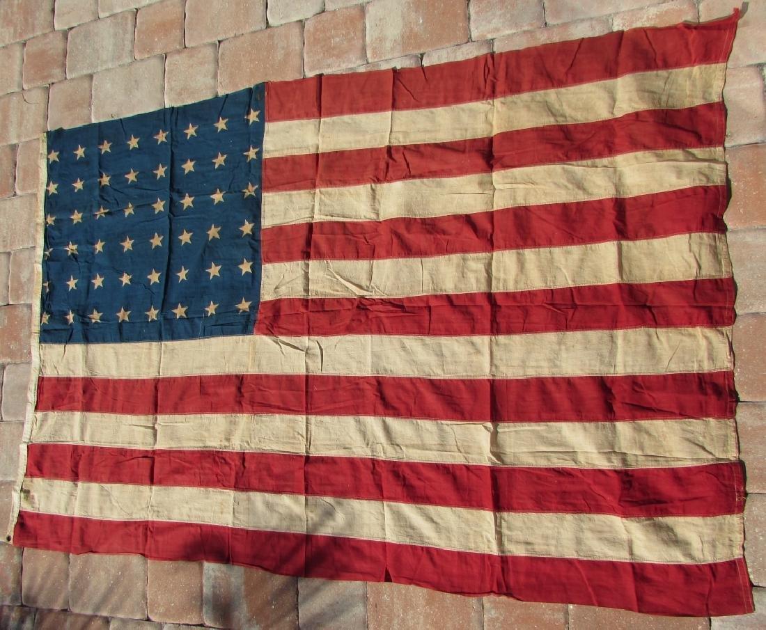 US 48 STAR FLAG COTTON PREMIER 44''x66'' ANTIQUE