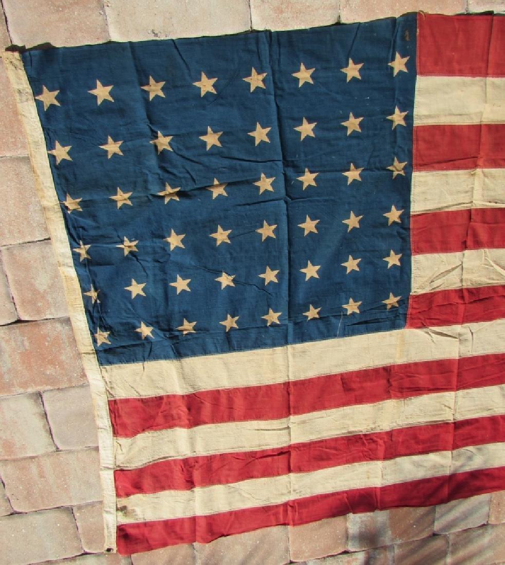 US 48 STAR FLAG COTTON PREMIER 44''x66'' ANTIQUE - 2