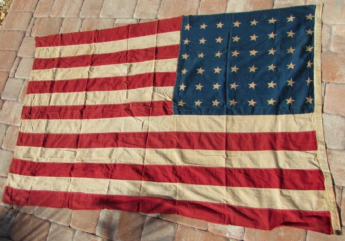 US 48 STAR FLAG COTTON PREMIER 44''x66'' ANTIQUE - 4