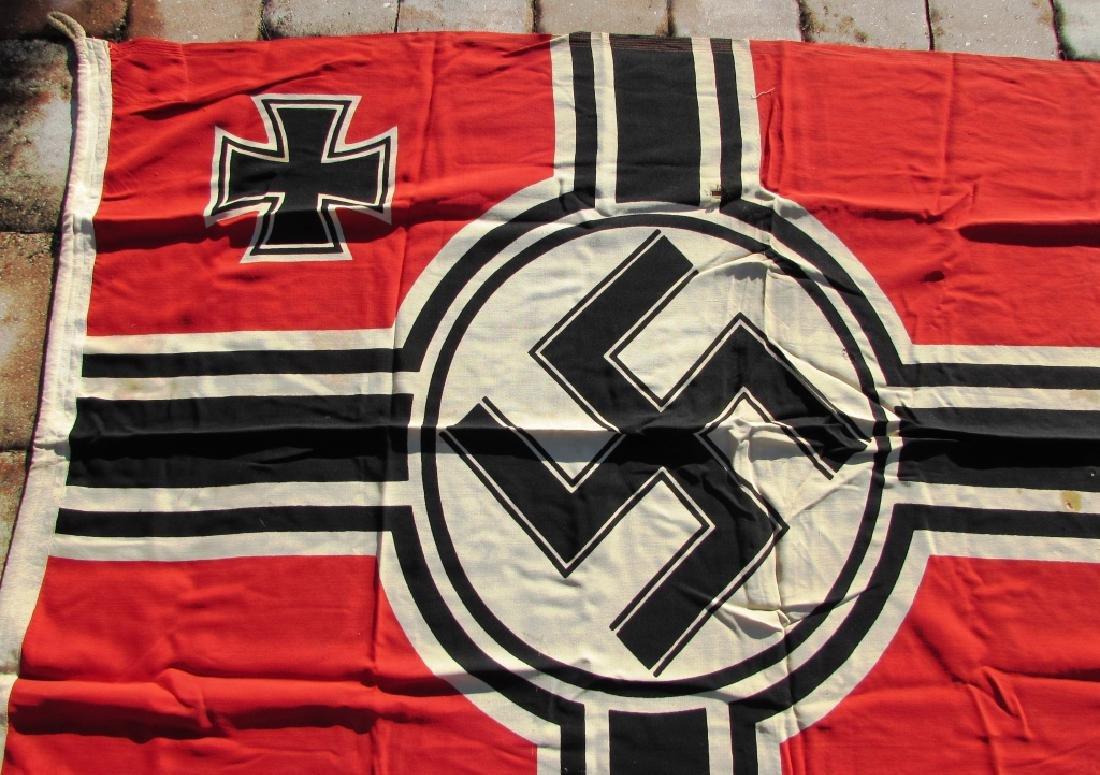 GERMAN WWII NAZI BATTLE FLAG IRON CROSS SWASTIKA - 2