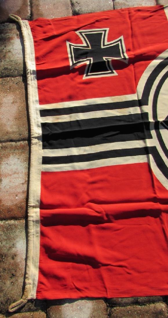 GERMAN WWII NAZI BATTLE FLAG IRON CROSS SWASTIKA - 4