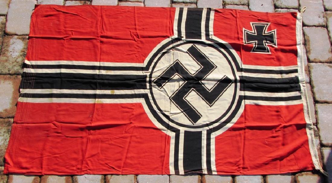 GERMAN WWII NAZI BATTLE FLAG IRON CROSS SWASTIKA - 5