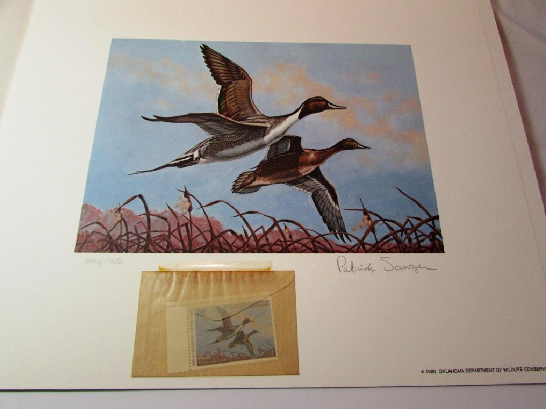 US OK 1980-81 DUCK PRINT, STAMP & FOLIO PAT SAWYER