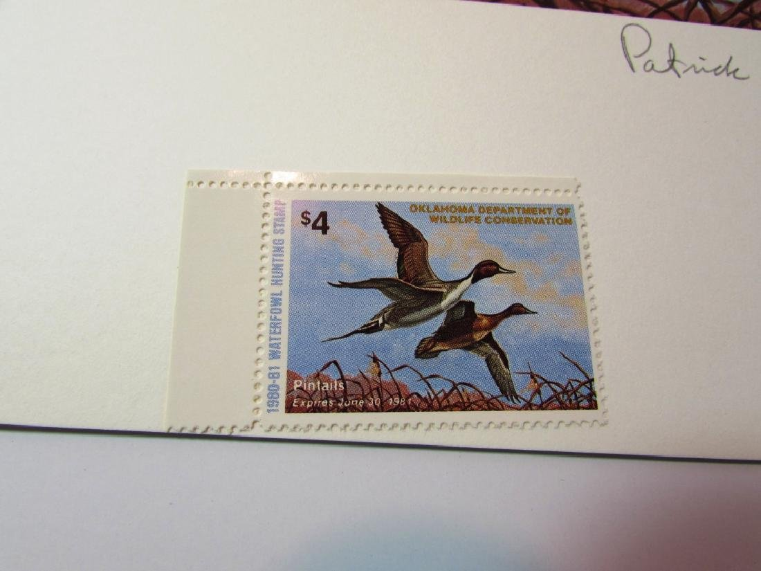 US OK 1980-81 DUCK PRINT, STAMP & FOLIO PAT SAWYER - 5