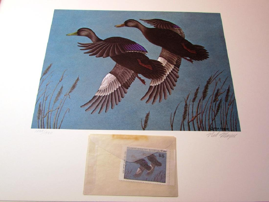 US DE 1980 DUCK PRINT STAMP & FOLIO NED MAYNE 1038