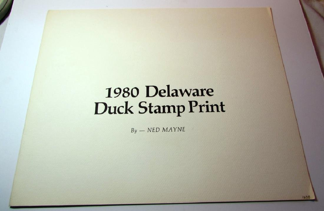 US DE 1980 DUCK PRINT STAMP & FOLIO NED MAYNE 1038 - 2