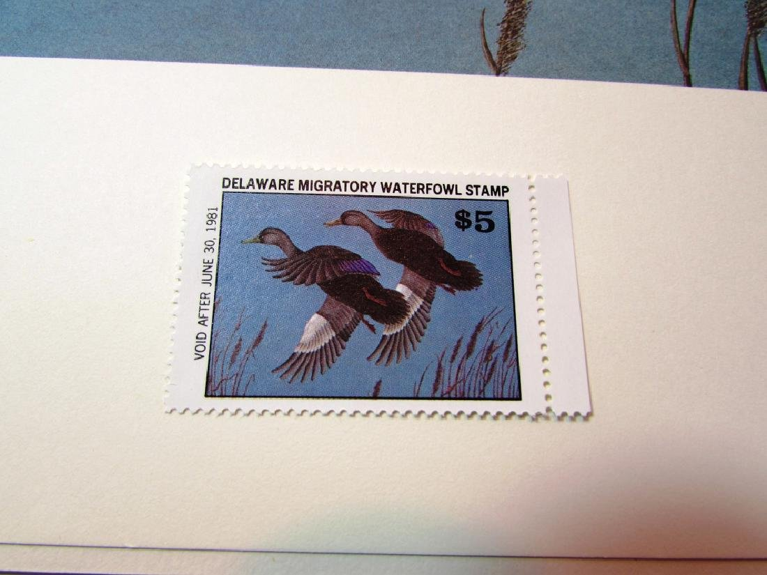 US DE 1980 DUCK PRINT STAMP & FOLIO NED MAYNE 1038 - 3