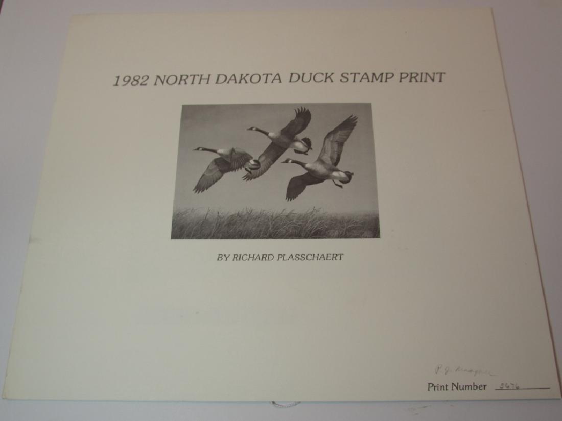 US ND 1982 DUCK PRINT 2 STAMPS & FOLIO PLASSCHAERT - 3