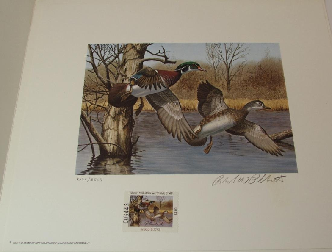 US NH 1983 DUCK PRINT, STAMP & FOLIO PLASSCHAERT