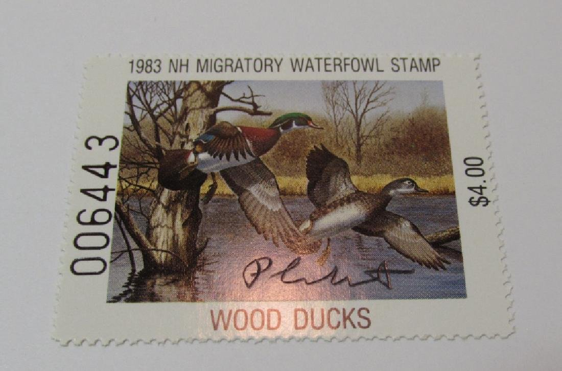 US NH 1983 DUCK PRINT, STAMP & FOLIO PLASSCHAERT - 3
