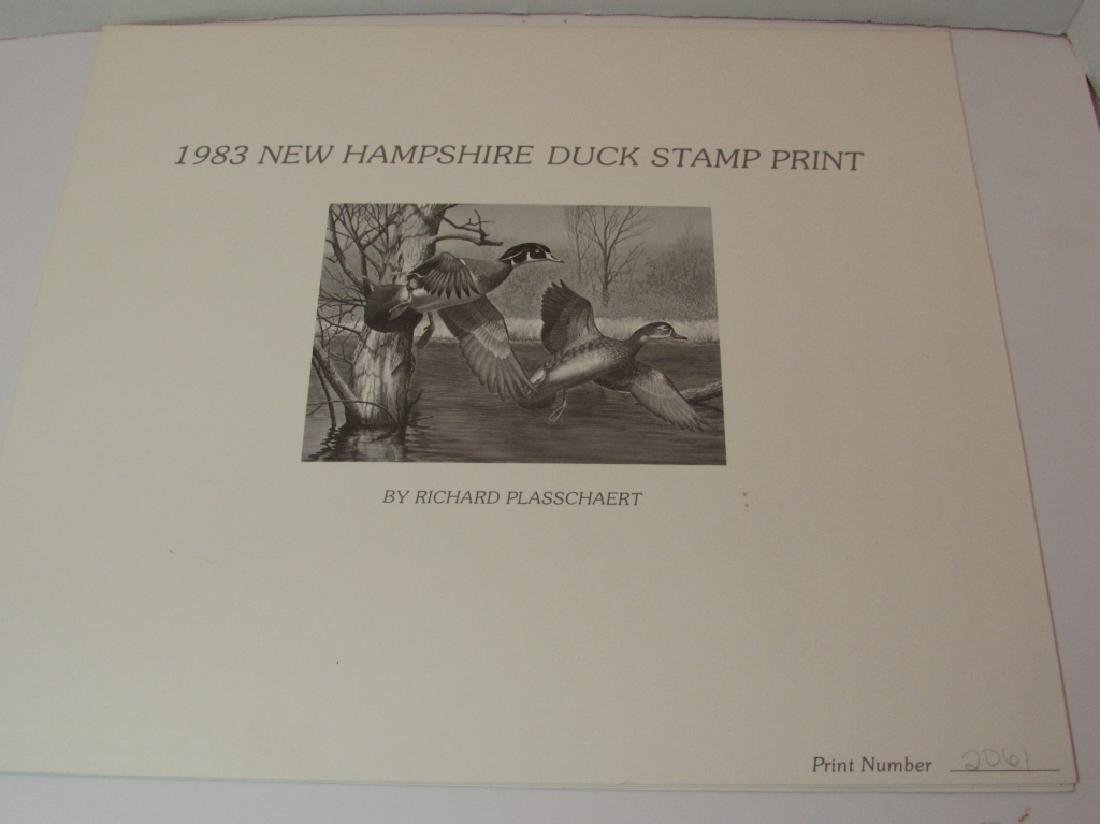 US NH 1983 DUCK PRINT, STAMP & FOLIO PLASSCHAERT - 5