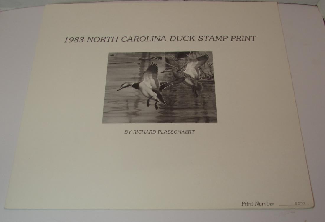 US NC 1983 DUCK PRINT, STAMP & FOLIO PLASSCHAERT - 3
