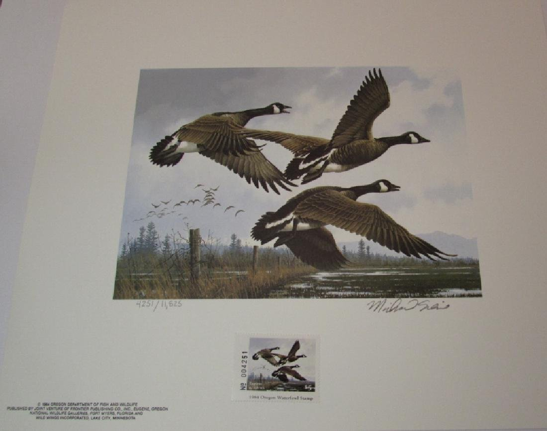 3 DUCK PRINT STAMP FOLIO SETS US OR NJ CANADA 1984