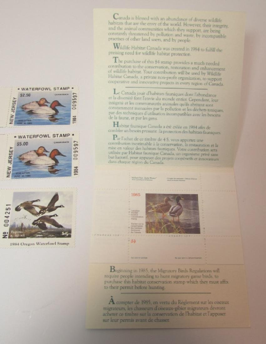 3 DUCK PRINT STAMP FOLIO SETS US OR NJ CANADA 1984 - 3