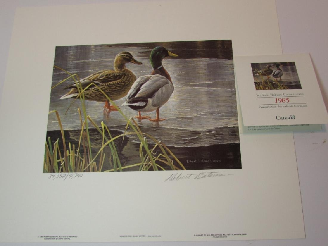 3 DUCK PRINT STAMP FOLIO SETS US OR NJ CANADA 1984 - 4