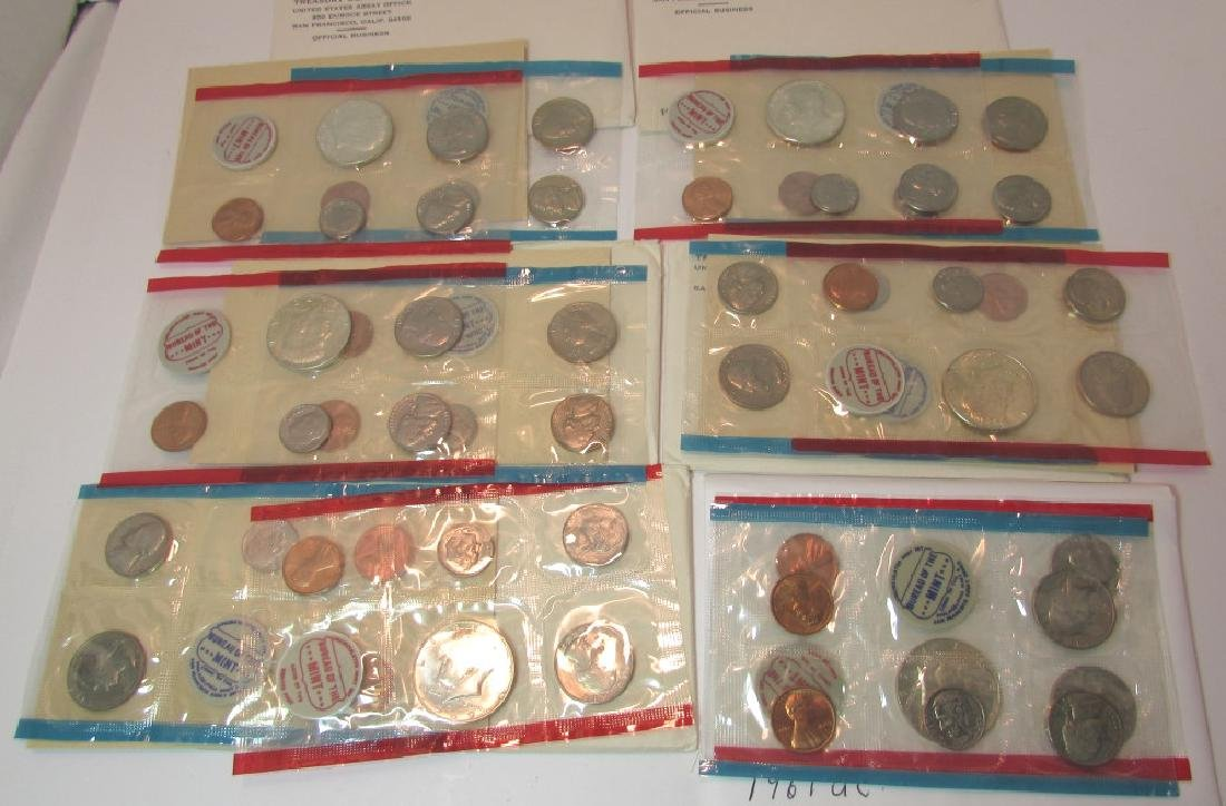 6 UNCIRCULATED COIN SETS US UNC MINT - 3