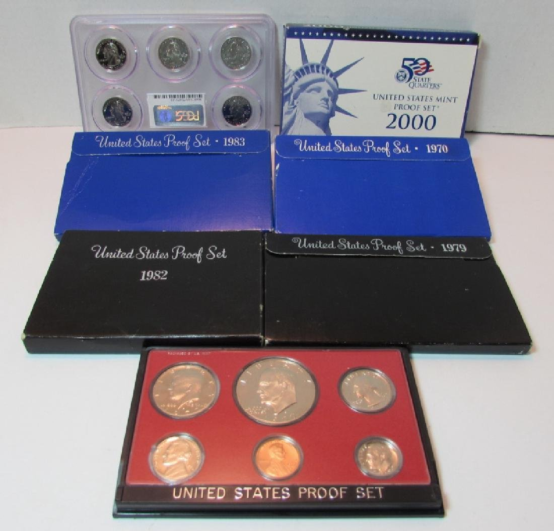 7 ASSORTED US PROOF COIN SETS