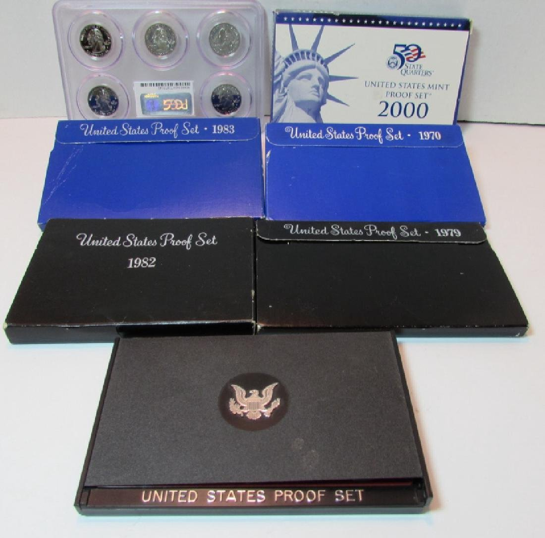 7 ASSORTED US PROOF COIN SETS - 2