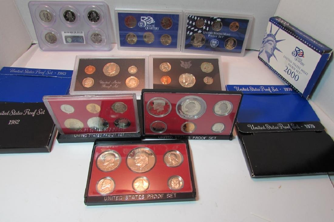 7 ASSORTED US PROOF COIN SETS - 3
