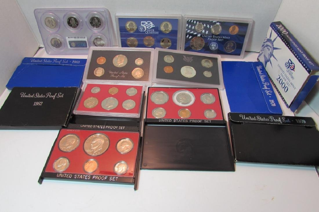 7 ASSORTED US PROOF COIN SETS - 4