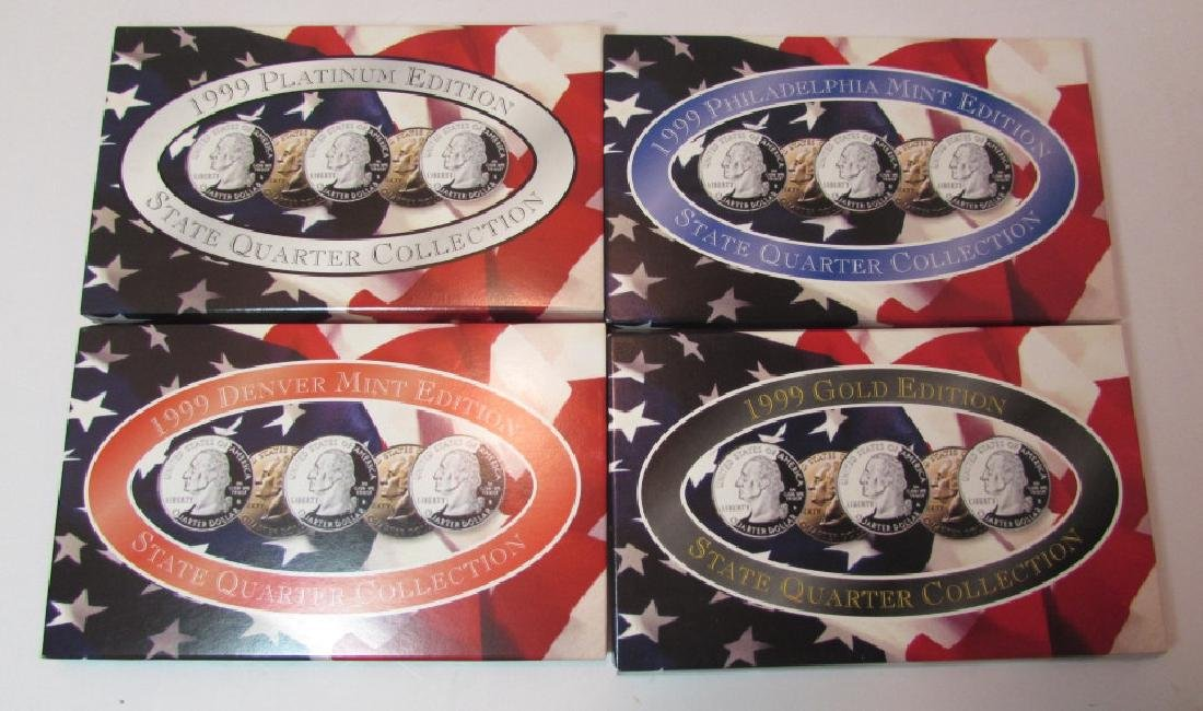 4 US STATE QUARTER COIN SETS 1999 MIB