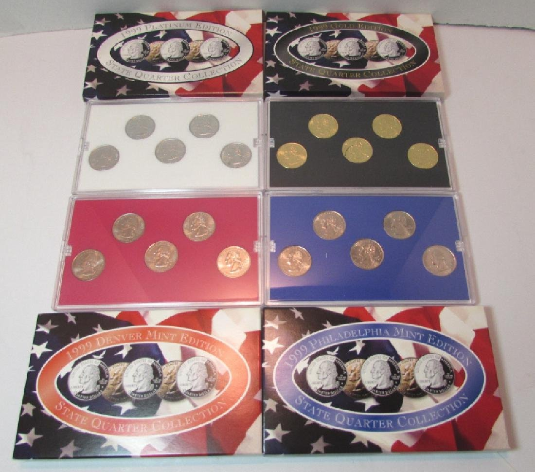 4 US STATE QUARTER COIN SETS 1999 MIB - 3