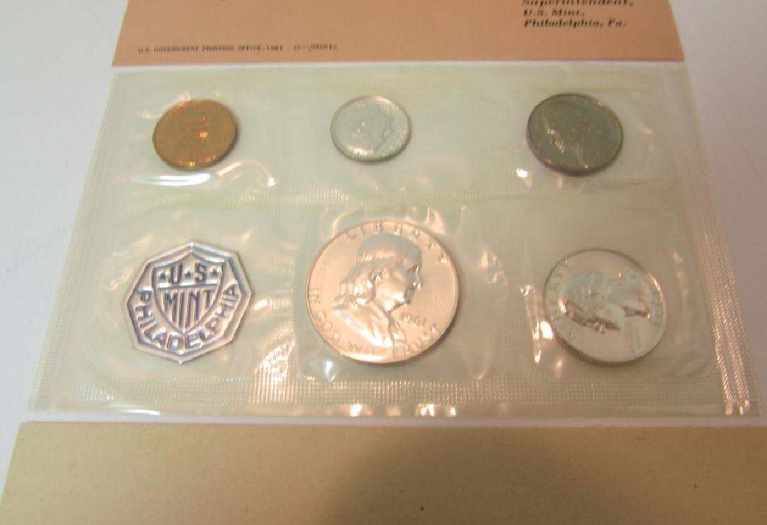 10 SILVER 1961 US PROOF COIN SETS - 2